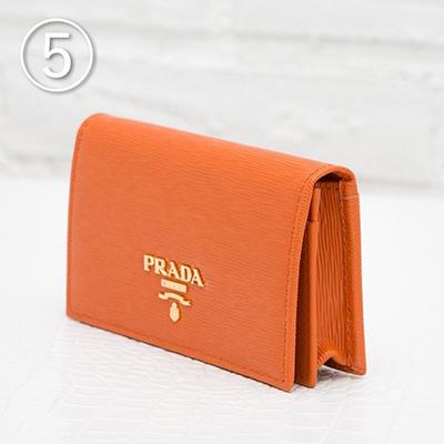 プラダ カードケース 名刺入れ オレンジ