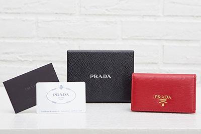 プラダ カードケース 名刺入れ レッド