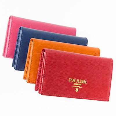 プラダ カードケース 名刺入れ レッド オレンジ ブルー ピンク