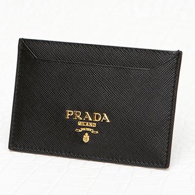 プラダ カードケース サフィアーノ ブラック 黒 パスケース