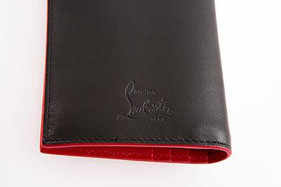 クリスチャンルブタン 財布 スパイク ブラック 黒 スタッズ メンズ ミニ財布 コンパクト