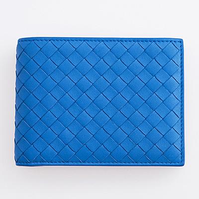 ボッテガヴェネタ 財布 メンズ ブルー 二つ折り