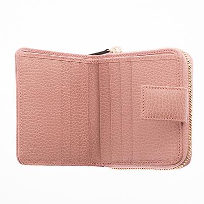 グッチ 財布 GG キャンバス 二つ折り ベージュ ピンク