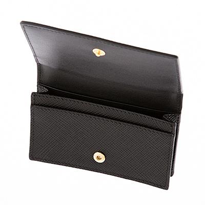 プラダ カードケース 名刺入れ サフィアーノクイール ブラック 黒