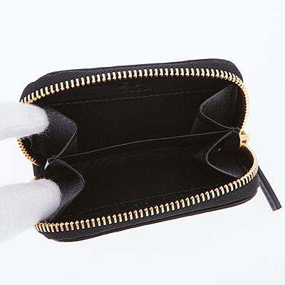 グッチ コインケース ブラック 黒 シマレザー
