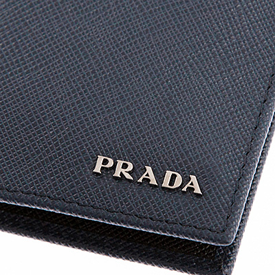 プラダ カードケース パスケース メンズ ネイビー