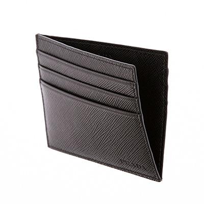 プラダ カードケース パスケース メンズ ブラック 黒
