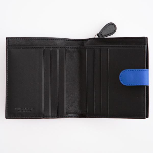 ボッテガヴェネタ 財布 ブルー コンパクト財布