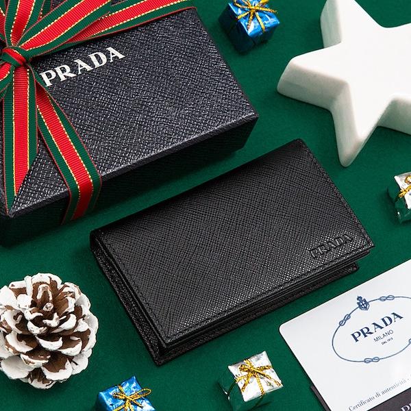 プラダ カードケース 名刺入れ メンズ ブラック 黒