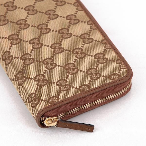 グッチ 財布 オリジナルGGパターン キャンバス GG柄 長財布 ブラウン 茶色