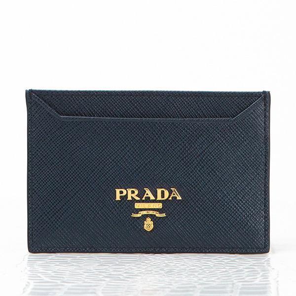 プラダ サフィアーノ カードケース ネイビーブルー 定期入れ パスケース