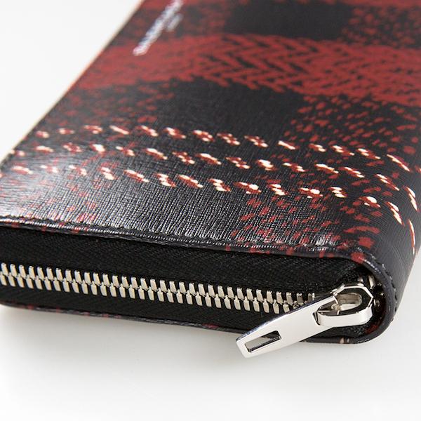 バレンシアガ 財布 チェック柄 ブラック 黒 レッド 赤 長財布 ラウンドファスナー