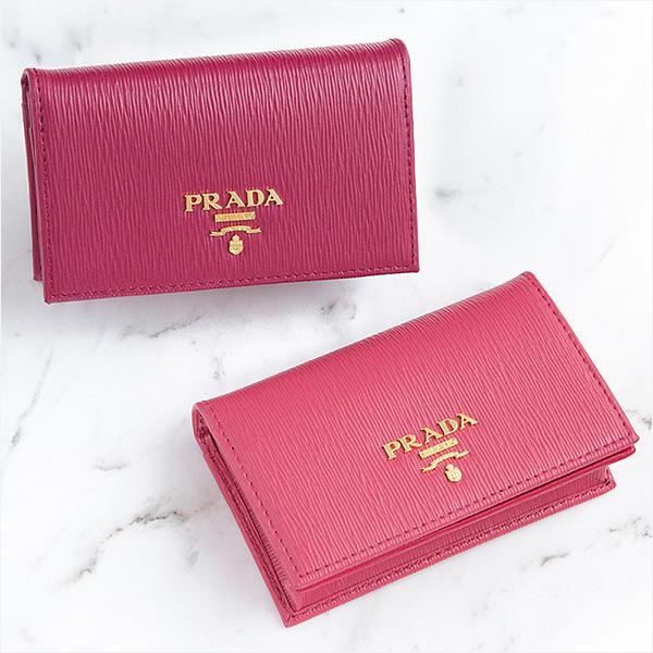プラダ 名刺入れ カードケース ピンク ピオニー