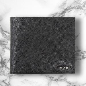 プラダ 財布 メンズ サフィアーノ ブラック 黒