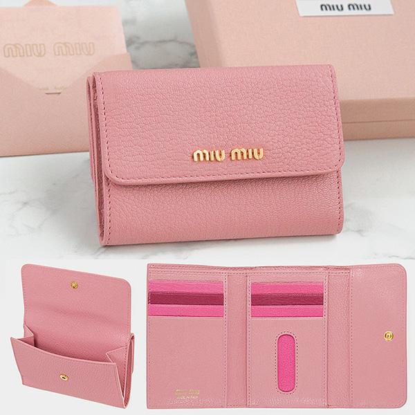 buy online 7505b e7118 MIUMIU 折りたたみ財布 5MH373 MADRAS ピンク – La Galleria Blog