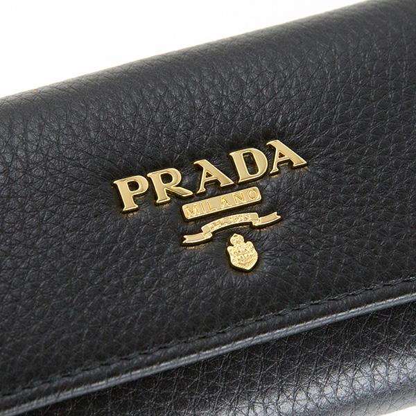 プラダ キーケース ブラック 黒 レザー レディース メンズ
