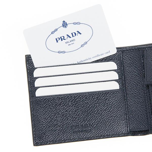プラダ 財布 メンズ ネイビー 紺