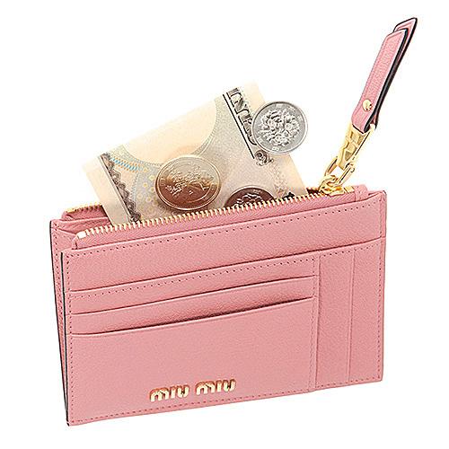 ミュウミュウ マルチケース カードケース ミニ財布 ピンク