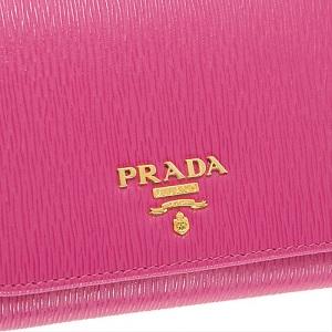 プラダ 財布 三つ折り ピンク
