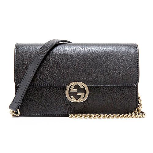 グッチ ショルダーウォレット 財布 クラッチ 3WAY ブラック 黒