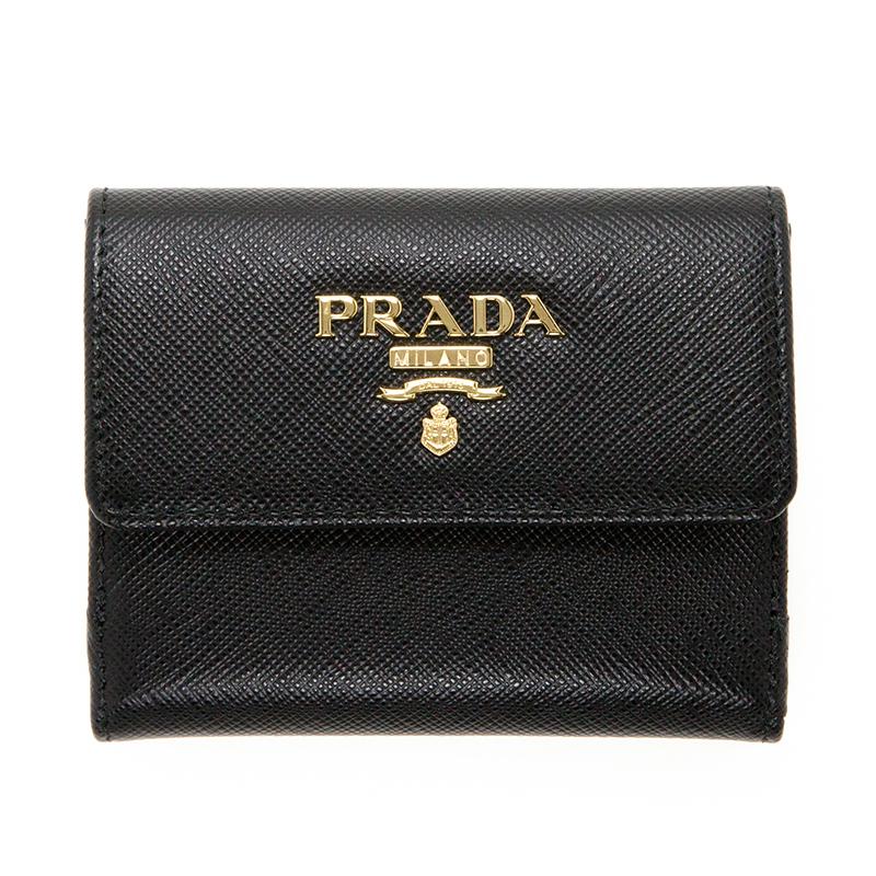 プラダ サフィアーノ パスケース コインケース カードケース ブラック 黒 高級感